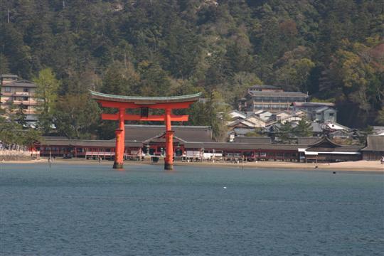 Japonija. Hirošima. Miyajima. Otorri vartai