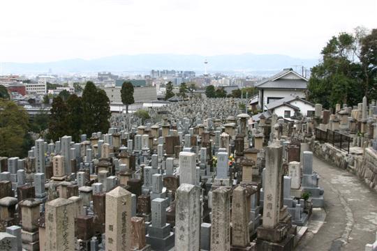 Japonija. Kioto. Kapinės