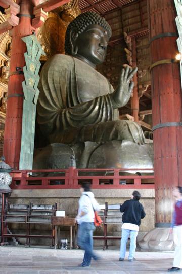 Japonija. Nara. Todaiji šventykla. Buda (Daibutsuden)