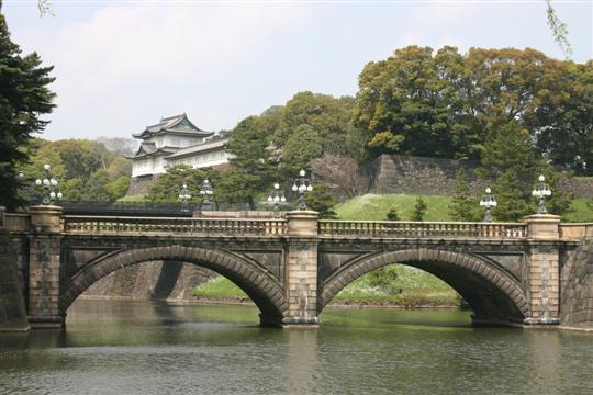 Japonija. Tokijas. Imperatoriaus rūmai