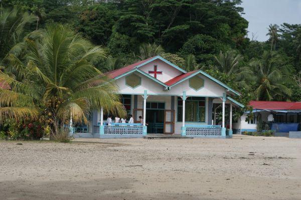 Samoa, Savaii Island, Manase, Church / Samoja, Savaii Sala, Manase, Bažnyčia