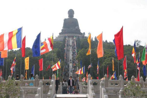 Didžioji Buda Lantau šalia Honkongo