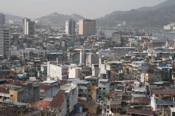 Makao vaizdas iš miesto tvirtovės