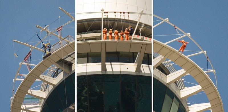 Pasivaikščiojimai ir šuoliai nuo Sky Tower, Oklendas, Naujoji Zelandija
