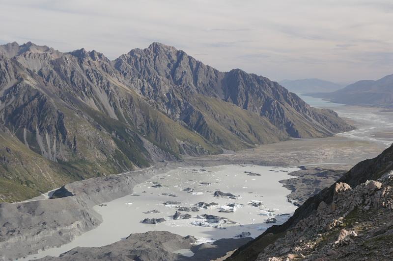 Tasmano ledynas, Naujoji Zelandija