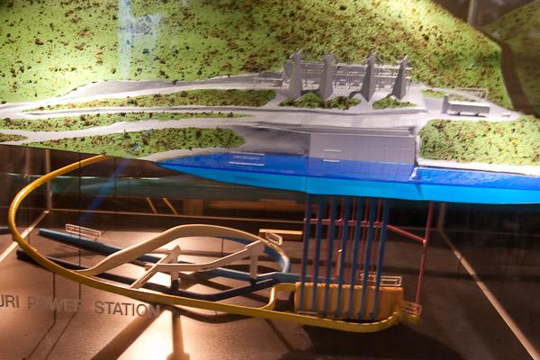 Požeminės Manapouri hidro elektrinės maketas