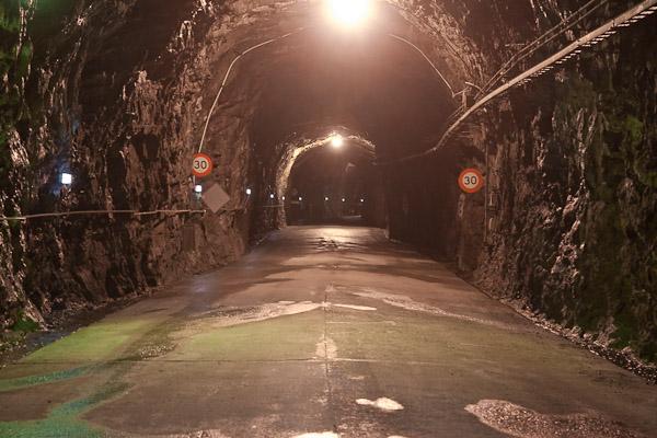 Tunelis į požeminę Manapouri hidro elektrinę